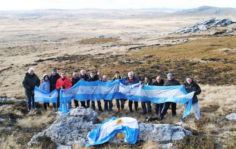 "Tim Miller said that when an Argentine flag is displayed in the Islands it was of a country that was claiming the Falklands ""in the same way it did 33 years ago."""
