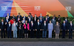 The family photo of the latest Celac summit held in Costa Rica