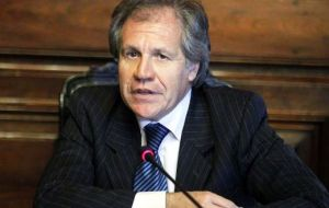 """We are the only candidate from the region for the Security Council seat and we have the necessary votes to support it"", said Almagro"