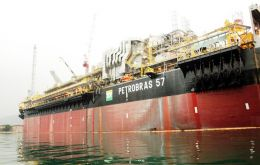 The Cidade de São Mateus is a floating oil production, storage and offloading ship (FPSO)