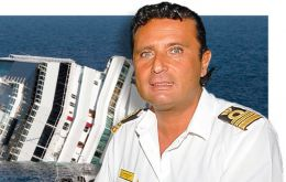 Francesco Schettino was commanding the vessel, when it hit rocks off the Giglio island, tearing a hole in its side.
