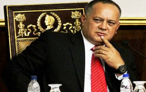 Congress head Diosdado Cabello announce an ex Air Force general, soldiers, opposition politicians and a businessman were involved.
