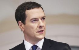 "Chancellor George Osborne tweeted that the low inflation figure was a ""milestone for the economy""."