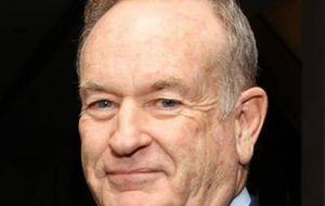 "Mother Jones highlighted several examples of O'Reilly saying he reported from a ""war zone"" during the Falklands conflict."