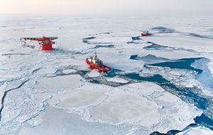 The Arctic could be the answer to the depletion of existing oil and gas fields. The region, which crosses Russia, Alaska, Norway and Greenland, is estimated