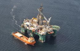 Two of the rig's three supply vessels are in the Falklands along with three support helicopters