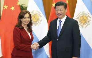 Cristina Fernandez also visited Beijing and signed a cooperation umbrella deal that includes 22 agreements in different fields plus financing