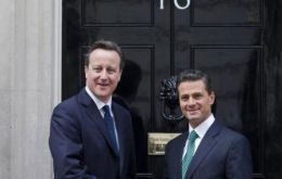 The Mexican president was received at Downing Street