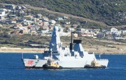 The Type 45 destroyer after Cape Town continued her Atlantic patrol and is currently exercising with African navies.