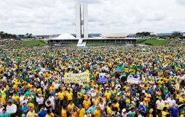 Sunday-s larger than expected demonstrations promise to embolden opposition parties and restive allies who are nominally part of Rousseff's ruling coalition