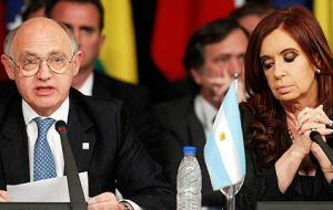 "Argentine foreign minister Timerman argues the Islanders are a ""non-people"" while President Cristina Fernandez refers to the Falkland Islanders as 'squatters'."