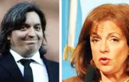 The Argentine president's son and former minister Nilda Garre are mentioned in pieces published in Clarin and Brazil's Veja