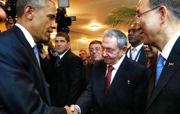 "A US official described the Obama-Castro greeting as an ""informal interaction,"" adding that ""there was not a substantive conversation between the two leaders."""