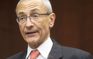 """It's official: Hillary's running for president,"" said to aide John Podesta. ""She is hitting the road to Iowa to start talking directly with voters""."