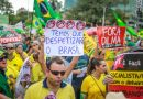 Police put turnout at 682,000 people who marched in 195 cities, while organizers gave a total estimate of 1.5 million, half of them in Sao Paulo business center