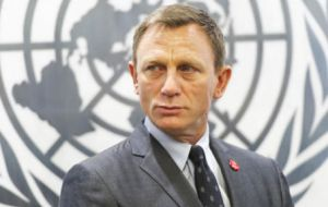 """The briefing from the Secretary-General, and from all of the United Nations staff I have met, demonstrated the enormity of the task,"" said 007 Craig"