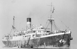 The SS City of Cairo was torpedoed south of St Helena by a German U-boat and sank to 5,150m. The 100 tons of coins were recovered in the deepest salvage operation in history