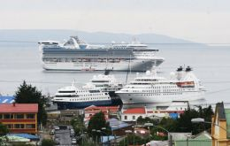 Windy Punta Arenas is the main port of call for cruise vessels in the south of Chile. This season 48 visited the city.