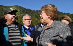 """Our problem is a respiratory one, from inhaling all of this ash, and the fact that this ash could generate some sort of environmental contamination"" said Bachelet"