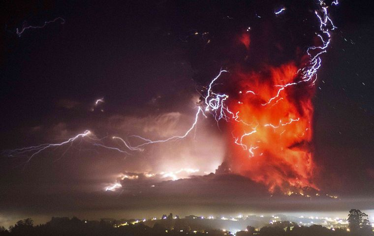 The 2.200 meters Calbuco last erupted in 1972 and is considered one of the top three most potentially dangerous among Chile's 90 active volcanoes.