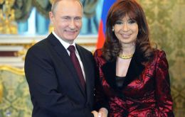 """The memorandums are a massive breakthrough for economic relations between Russia and Argentina"", said Putin next to Cristina Fernandez"