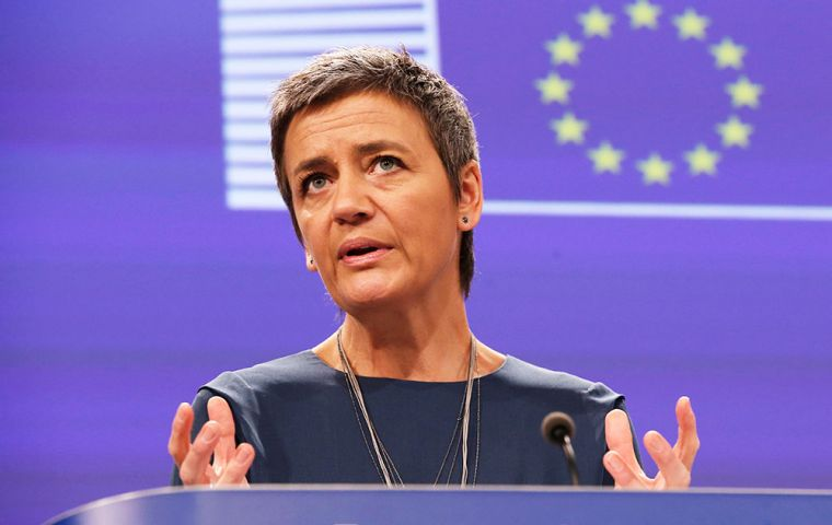 """Gazprom may have built artificial barriers, …hindering cross-border competition,"" said European Competition Commissioner Margrethe Vestager"