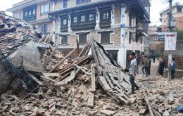 An area of about 150 kilometers long and 50 km wide in a fault running underneath the Kathmandu valley, gave in after decades of pressure