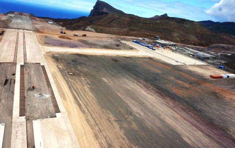 Aerial view over the Dry Gut fill, Taxiway and Apron that are also almost completed ( Pic Deon De Jager)