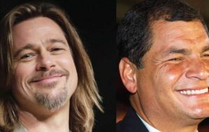 "Correa asked his government to launch a worldwide Internet campaign aimed to warn the Hollywood A-list actor Brad Pitt that he is being ""used"" by Chevron"