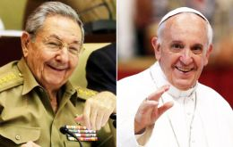 """Raul Castro will be received in the morning for strictly private talks,"" the spokesman said in a statement Tuesday."