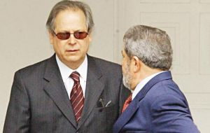 The ring leader and as such was sentenced and ordered to jail, was Dirceu, Lula's cabinet chief, closest advisor and strategist