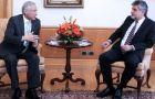 Daniel Filmus (R), ha incontrato il ministro degli esteri cileno Muñoz e i leader della Camera dei Deputati e del Senato a Santiago