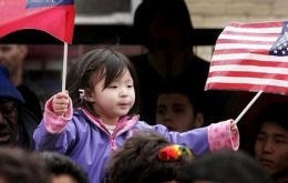 Census Bureau 2013 data shows that 2013 China ranked in number one position with 147,000 immigrants: India followed with 129,000 and Mexico 125,000
