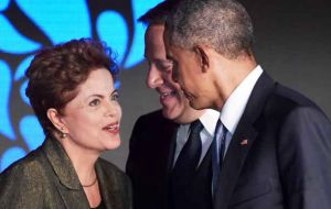Obama and Rousseff met at the Americas' summit last month in Panama, and the US leader made a strong statement in support of Brazil