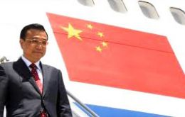 Chinese Premier Li arrives Tuesday in Brasilia on an official visit and will also visit former capital Rio. He then flies to Colombia, Peru and Chile