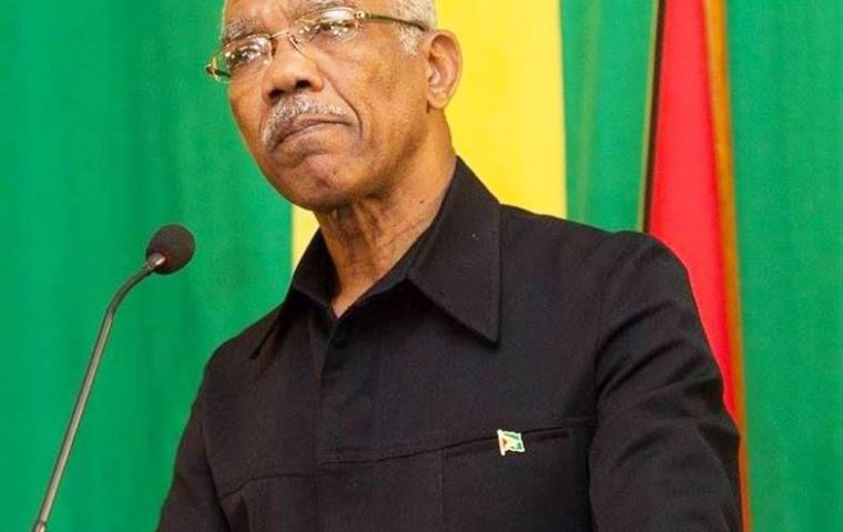"""I shall be a good president for all the people of Guyana,"" Afro-Guyanese Granger said after taking the oath of office for his five-year term."