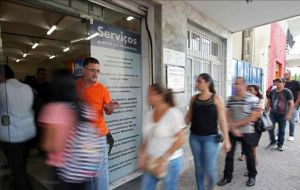 In a separate report, statistics agency IBGE said Brazil's unemployment rate climbed to 6.4% in April, the highest since May 2011.