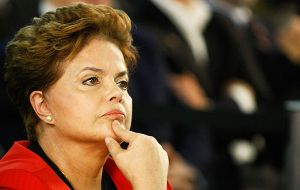 The figures highlight the steep downturn of the Brazilian economy that has dragged Rousseff's popularity to record lows