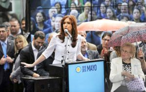 Cristina Fernandez at the launching of the May Week celebrations