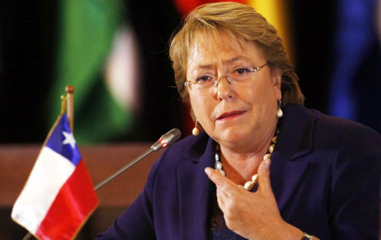 """I think we are in very good standing to continue making progress in various economic and trade fields"" said Bachelet"