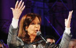 """We're after twelve summers for Argentina, so please let us ensure the thirteenth summer"", said Cristina Fernandez"