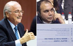 Neither Blatter nor Jordanian challenger Prince Ali bin Al Hussein got the necessary two thirds of the vote in the first round