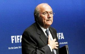"Addressing the FIFA Executive Committee, Blatter reminded all those present that he was ""the President of all member associations of FIFA""."