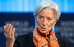 Lagarde said the risks of raising rates too soon outweighed the risk of keeping rates on hold and allowing inflation to slightly exceed the Fed's 2% target.