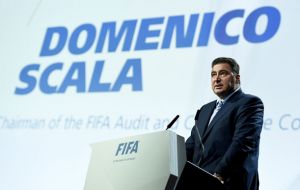 Domenico Scala said if evidence of wrongdoing is found by the ongoing criminal investigations, rights to host the 2018 and 2022 World Cup could be stripped.
