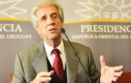 """Uruguay's position is well known regarding a free trade agreement between Mercosur and the European Union"", underlined Tabare Vazquez"