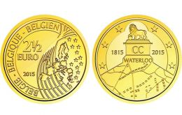 The €2.50 coin, a first in Belgium, with 70,000 of them minted, can only be spent in Belgium under an EU regulation which allows for irregular denominations