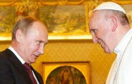 The two leaders met for 50 minutes and discussed the conflicts in Ukraine and in the Middle East, according to Vatican officials