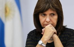"""The presses were turned on again to print Pesos with the purpose of propping the economy and thus we're back again at the 2.12% of March"", said Bullrich"