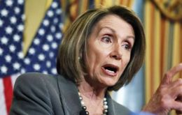 "Minority leader Nancy Pelosi said she would be voting ""to slow down the fast track to get a better deal for the American people"""